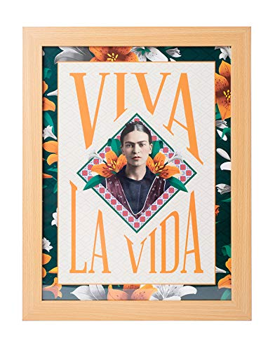 Grupo Erik Cuadro Decorativo Frida Kahlo Viva La Vida