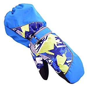 TRIWONDER Winter Handschuhe, Ski Fäustlinge, Warme Skihandschuhe, Fausthandschuhe für Kinder 3-12 Jahren
