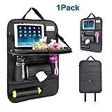 YOOSUN Auto Organizer Auto-Rückenlehnenschutz kinder Rücksitz-Organizer Rückenlehnen-Tasche Kick-Matten-Schutz für den Autositz mit iPad-Tablet-Halter--One Pack