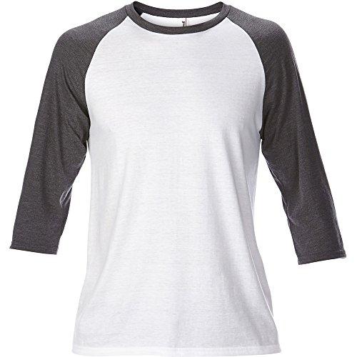 Anvil Mens Adult Tri Blend 3/4 Sleeve Raglan T Shirt