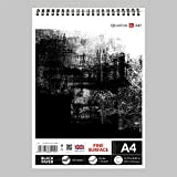A4 Black Paper Drawing Sketch Artist Paper Pad on Spiral Book 120 gsm- 30 sheets