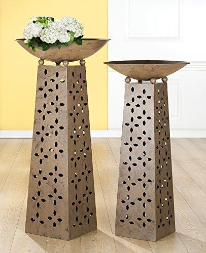 Gilde Metall Schalenständer mit Schale Flower 69533