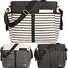 Wickeltasche (+ Wickelauflage) Baby Tasche mit Befestigung für Kinderwagen Buggy