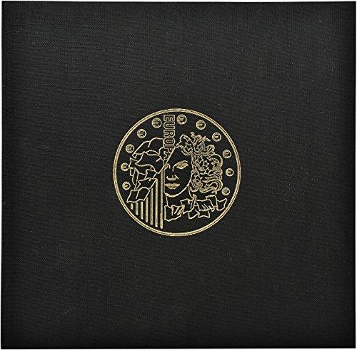 Exacompta - 96101E - Classeur Numismatique + 5 Feuilles Plastique Transparentes de 43 Cases + 5 Intercalaires en Carte Rouge - 24,5 x 25 cm - Noir