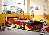 Vaja Kinderbett Autobett Rennwagen Rennauto 90x200