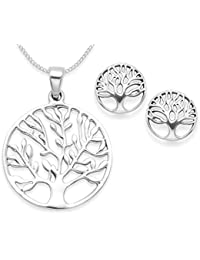 Sterling Silver Tree of Life Earrings - SIZE: 15mm x 16mm. Good quality - weight 3gms. Gift Boxed. 6098 z4pXbC