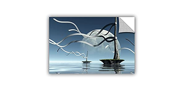 ArtWall 0dec025a2436p Cynthia Deckers Ribbons Art Appeelz Removable Wall Art Graphic 24-Inch x 36-Inch