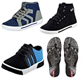 #8: Earton Men Combo Pack of 4 Casual Shoes & Flip-Flops
