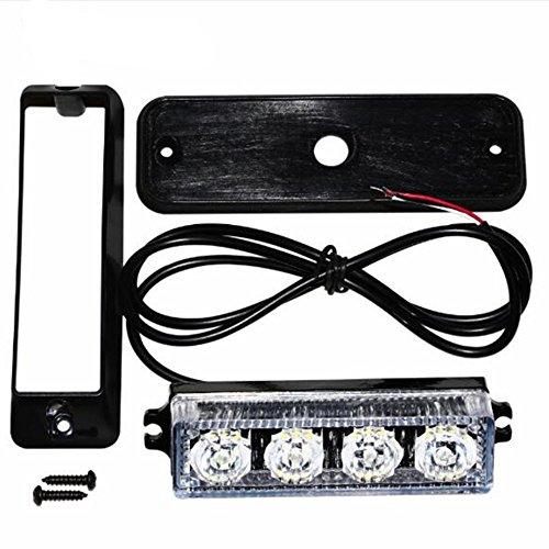 TOUCHFIVE 4 LED Auto Warnleuchte Blinkleuchte Lichtbalken LED Blitzleuchte Hohe Intensität Stroboskoplicht Warnblitzleuchten 16 Strobe-Muster für Träger Auto mit IP65 - Utility-anhänger Led-leuchten