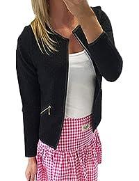 ZANZEA Printemps Femme Jacket à Manches Longues Ouvert Slim Cardigan Blouson Casual Blazer Coat