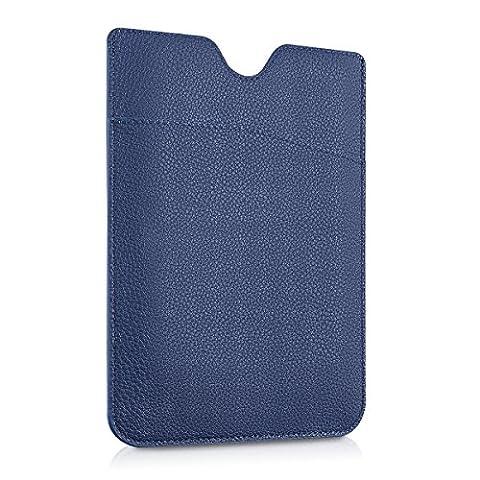 kwmobile Pochette sleeve en cuir synthétique pour Pocketbook Touch Lux 3 / Touch Lux 2 / Basic Lux / Basic 3 / Basic Touch 2 - housse de protection pour liseuse en bleu foncé
