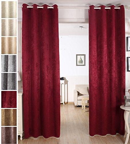 Woltu tende oscuranti finestre tenda drappeggio opaca con occhielli velluto stampato termica isolante pesante soggiorno camera da letto 2 pannelli