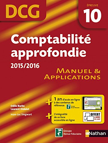 Comptabilit approfondie 2015/2016