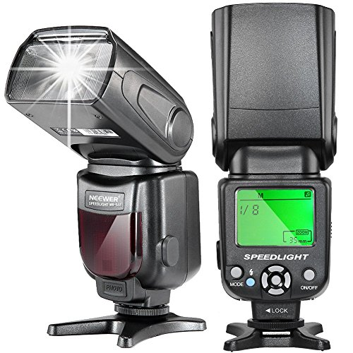 Neewer NW-561 Speedlite - Flash con LCD Display per Canon & Nikon Digitale DSLR Fotocamera, come Canon Rebel e Nikon e altri DSLR Fotocamera con Standard Hot Shoe