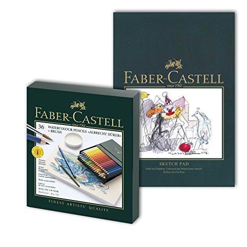 Faber-Castell, Polychromos-Farbstifte, mit A4-Skizzenblock Albrecht Dürer Geschenkset