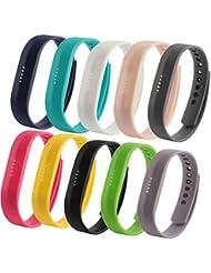 Fit-power - Lot de 2 bracelets de rechange pour Fitbit Flex 2, tailles Small et Large