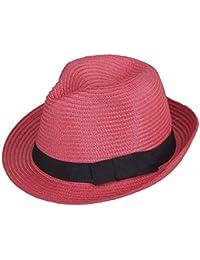 Beanie Sombrero De Paja para Mujer para Solar Verano Hombre Protector Panamá Acogedor Sombrero Moda Casual Vacaciones Playa Sombrero De Jazz Sombrero para El Sol Gorras