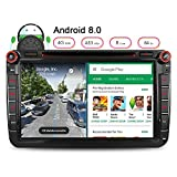 Junhua 8 Zoll Android 8.0 4GB RAM Car Radio DVD GPS Player für