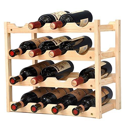 Weinregale Kiefernholz-Flaschen-Speicher-Regal-freie stehende Haushaltswaren für Speisekammer-hölzerne Farbe (größe : 4-Tier) - 4 Regal-speicher-speisekammer