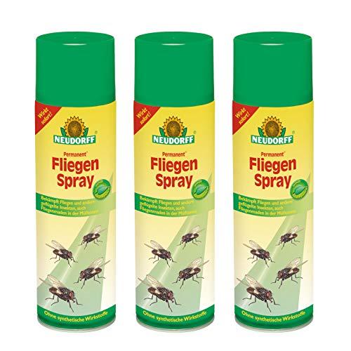 3 x 500 ml Neudorff Permanent FliegenSpray Insektenschutz -