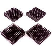 Easycarga Kit de disipador de Calor de 4 Piezas 40 x 40 x 11 mm + 3 m 8810 Cinta Adhesiva conductora térmica, disipador de Calor para refrigeración GPU IC Chips VRAM VGA RAM (40 mm x 40 mm x 11 mm)
