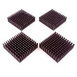 Easycargo 4pcs kit dissipatore 40x 40x 11MM + 3m 8810nastro adesivo termico conduttivo, dissipatore di calore di raffreddamento per raffreddamento GPU IC chips Vram VGA da (40MMX40MMX11MM)