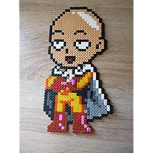 Sprite Saitama - One Punch Man • Hama Beads • Pixel Art • Perler beads