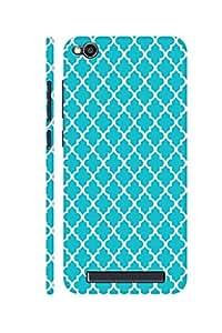 AMAN Blue Shape 3D Back cover for Xiaomi Redmi 4A