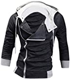 """Men Fashion Slim Jacket Hoodie US slim fit size available: XS S M L Size: US XS(160-165cm 55kg-60kg) (5'3""""--5'5"""" 121--132lbs) US S(165-170cm 60kg-65kg) (5'5""""--5'7"""" 133--144lbs) US M(170-175cm 65kg-70kg) (5'7""""-5'9"""" 144-155lbs) US L(175-180cm70..."""