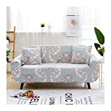 WUFANGFF Slipcover Geometrisches Blumenmuster Stretch Sofa Chemiefasergewebe Schonbezug Couch Covers Sofa Furniture Protector, 3Seat