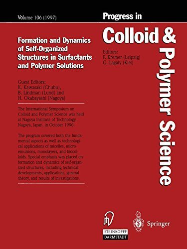 Formation and Dynamics of Self-Organized Structures in Surfactants and Polymer Solutions (Progress in Colloid and Polymer Science) by Steinkopff (2013-07-16)