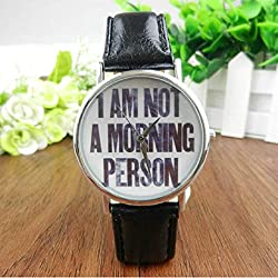 Mallom® English Letters Women Men Wrist Watch Black
