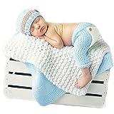 Coberllus Neugeborenen Babyfotografie Props Kostüm Jungen Mädchen Baby Fotografieren Fotoshooting Set Requisiten Accessoire Hut Hose