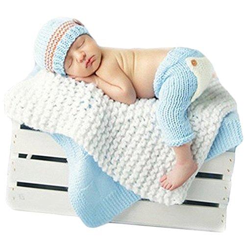 Neugeborenen Babyfotografie Props Kostüm Jungen Mädchen Baby Fotografieren Fotoshooting Set Requisiten Accessoire Hut Hose