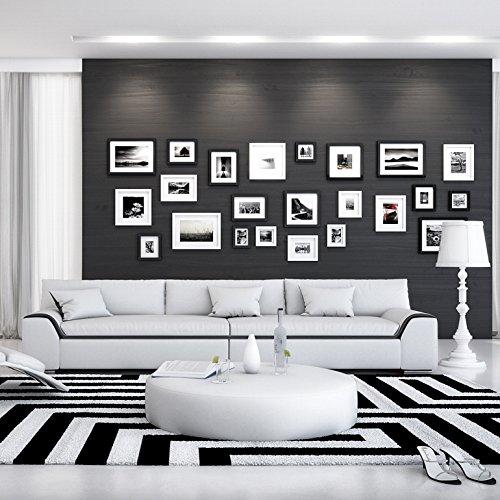 SalesFever 3-Sitzer Couch mit Kunstleder Bezug weiß/schwarz 280x90 cm | Tezur | Moderne Couch-Garnitur 3-Sitzer Weiss/schwarz 280cm x 90cm (Couchgarnitur Schwarz Moderne)