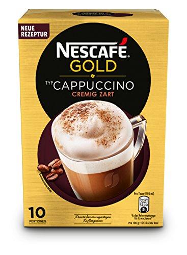 Nescafé Gold Typ Cappuccino Cremig Zart (Faltschachtel) 10x14g, 4er Pack