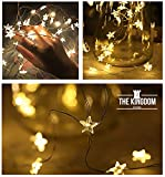 #9: The Kingdom Store™ String Lights 30 Warm White LED Stars Fairy Lights 10Feet for Christmas Halloween Party Home Bedroom Decoration Diwali DIY