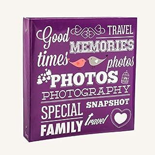 ARPAN Einsteckalbum für 500 Fotos, Größe 15 x 10 cm, Violett, Karton 34 x 4 x 33 cm