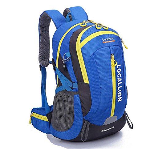Outdoor-Bergsteigen Tasche große Kapazität Rucksack Rucksack Männer und Frauen zu Fuß wasserdicht Blue