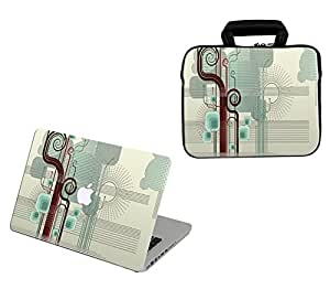 Theskinmantra 2 in 1 Combo : Laptop sleeve with Zip and Handle & Laptop Skin for Apple MacBook Air 13