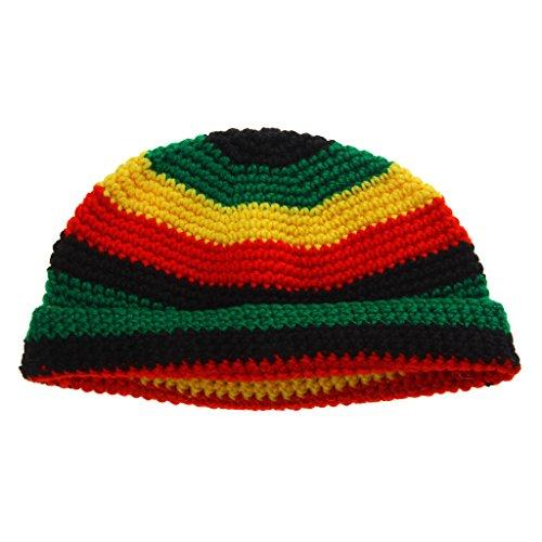 Dreadlocks Mütze (Mode Reggae-Jamaika-Geschenk Rasta Beaniehut Kuppe Dreadlock Tam)