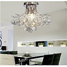 ALFREDR Kronleuchter Moderne Kristall 3 Leuchtet Mini Style Putz Deckenleuchte Fixture Zur Studie Raum