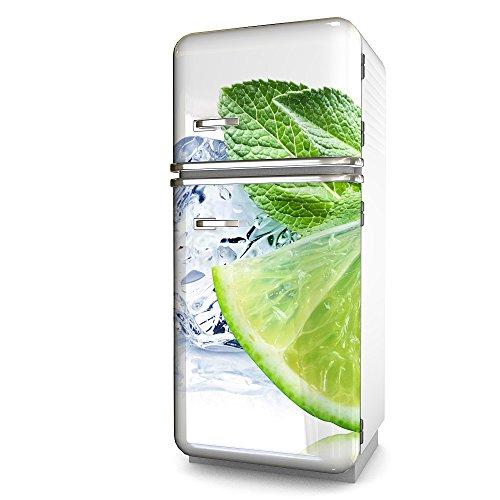 Kühlschrank-Folie Zitrone selbstklebend mehrere größen | Sticker-folie | Klebefolie | Kühlschrank-Aufkleber | Front-folie | Dekoration | Küche | Deko-folie | Möbel-folie | Vinyl-folie