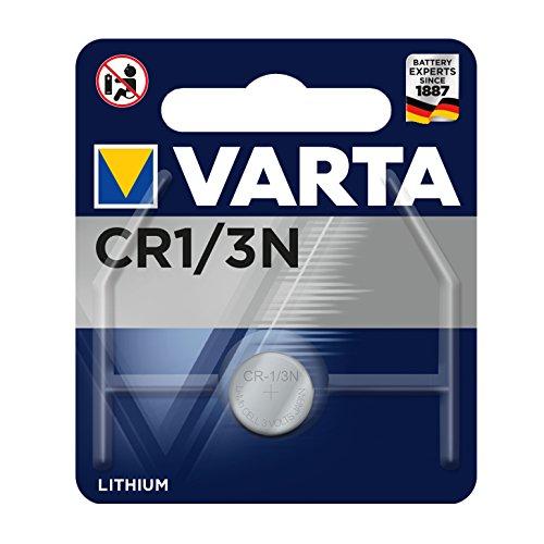 VARTA Batterien Electronics CR1/3N Lithium Knopfzelle 3V Batterie Knopfzellen in Original 1er Blisterverpackung, 1er Pack 3n Lithium-batterie