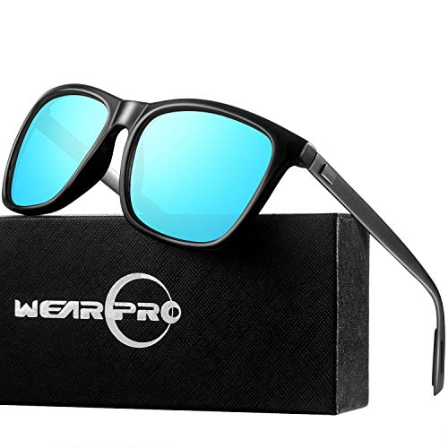wearPro Sonnenbrille Mens männer Retro Vintage Polarisierte Sonnenbrille WP1003 (Blau, 2.16)