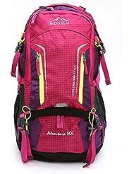 ZC&J Mochila al aire libre de viaje al aire libre mochila de viaje, mochila de 50 litros de alta capacidad para hombres y mujeres, mochila con mochila ajustable para la lluvia,A,50L