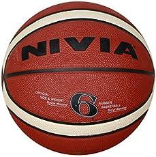 Nivia Engraver Basketball, Size 6 (Red)