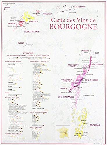 Carte des vins de Bourgogne par Benoit France