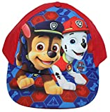 Paw Patrol Nickelodeon Cap Kappe Schirmmütze (52, Rubinrot)