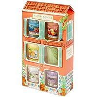 Yankee Candle Riviera Escape Confezione Regalo Casetta 6 Votivi, Vetro, Multicolore, 5.5 x 11.6 x 20.3 cm